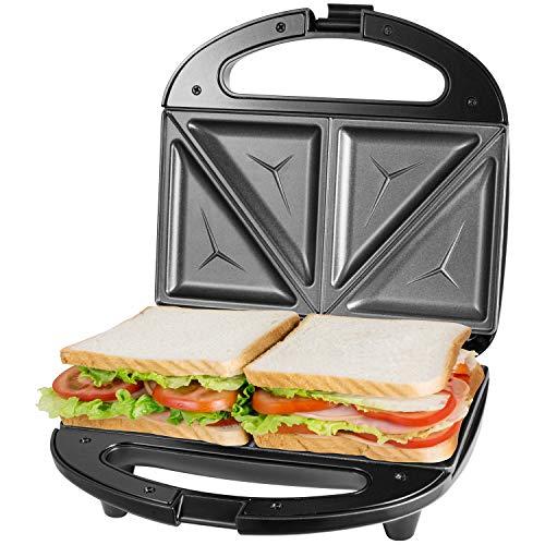 OSTBA Sandwichmaker, Sandwichtoaster, Antihaftbeschichtete abnehmbare Platten, Cool Touch Griffe, BPA frei,...
