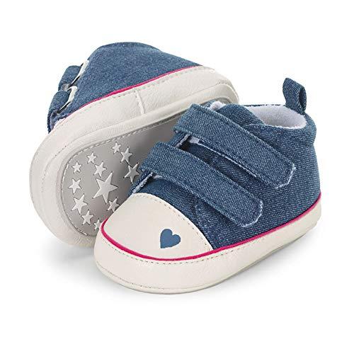 Sterntaler Baby Mädchen Schuh Stiefel, Blau (Marine 300), 21/22 EU