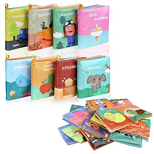 Lictin Stoffbuch für Babys Bilderbuch Stoff Babyspielzeug Soft Bilderbücher Neugeborene Stoff Puzzle Buch...