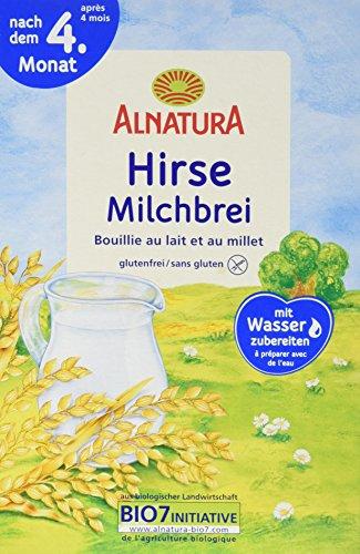 Alnatura Hirse-Milchbrei, 6er Pack (6 x 250 g)