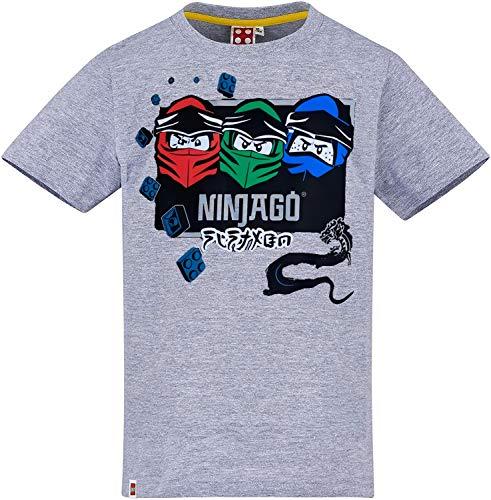 Lego Ninjago T-Shirt Jungen Grau Dragon Ninja Kinder 4 5 6 7 Jahre Oberteil Gr.116