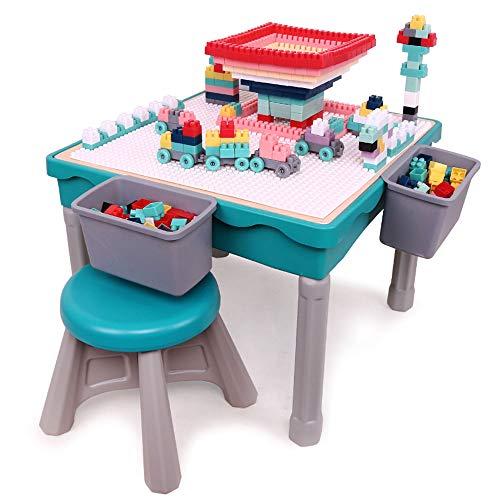 Arkmiido kindertisch mit stühle,spieltisch Baby ab 12 Monate,Mehrzweck-Aktivitätstisch für Kinder Bauen...