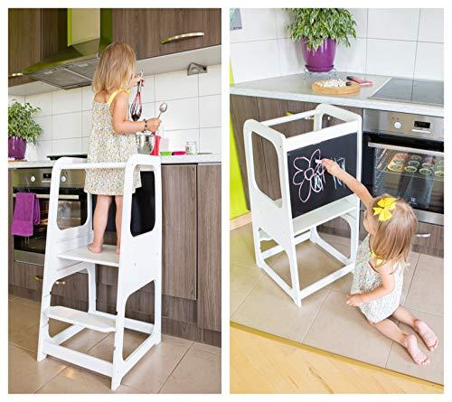 Sweet Home from Wood Montessori-Lernturm - Küchenhelfer für Kinder & Kleinkinder - Kinderhocker mit...