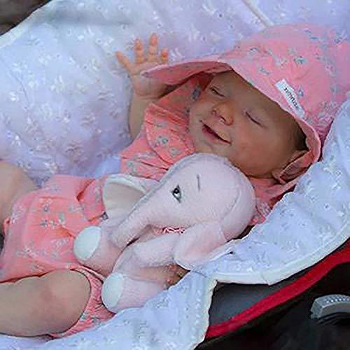 Reborn-Puppen Baby, Kleinkind Jung Pflegende Zubehör Spielzeug Flasche Stofftiere Silikon...