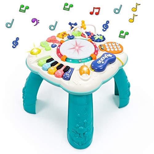 Fajiabao Spieltisch Baby Spielzeug 6 in 1 - Kinderspielzeug ab 2 3 4 5 6 Jahre Kinder Spielzeug Mädchen...