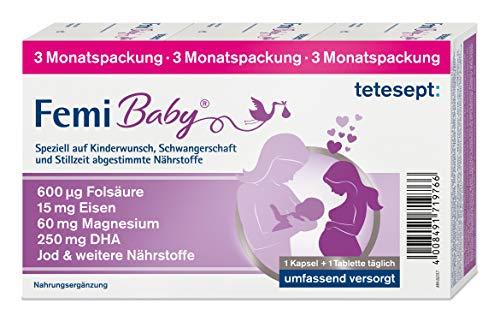 tetesept Femi Baby - 16 Nährstoffe für Kinderwunsch, Schwangerschaft & Stillzeit - Vitamine & Mineralstoffe...