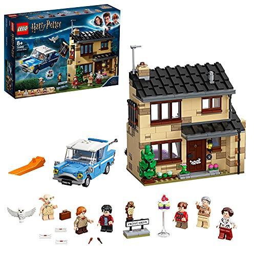 LEGO 75968 Harry Potter Ligusterweg 4, Spielzeug-Haus mit Ford Anglia sowie Minifiguren von Dobby und Familie...