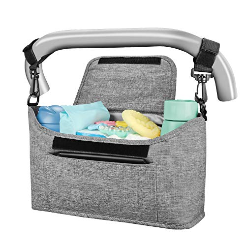 Yoofoss Kinderwagen Organizer Kinderwagentasche Multifunktionale und Praktische Aufbewahrungstasche Buggy...
