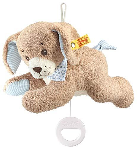 Steiff 239700 Gute-Nacht-Hund Spieluhr Plüschtier, Mehrfarbig