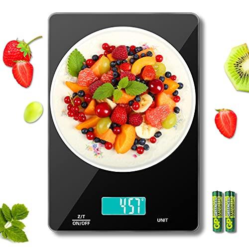 MomMed Küchenwaage Digital, 15 kg Waage Küchenwaage, Kitchen Scale, Waage Küche mit...