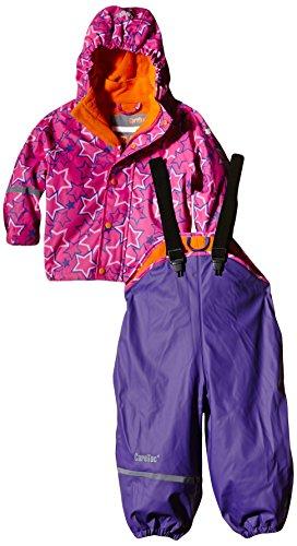 CareTec Kinder wasserdichte Regenlatzhose und -jacke im Set (verschiedene Farben), Mehrfarbig (Purple 633),...