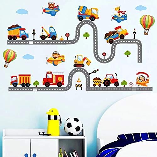 WandSticker4U®- Wandtattoo Kinderzimmer TuTuTu, Straßenverkehr I Wandbilder: 240x110 cm I Wandsticker Kinder...