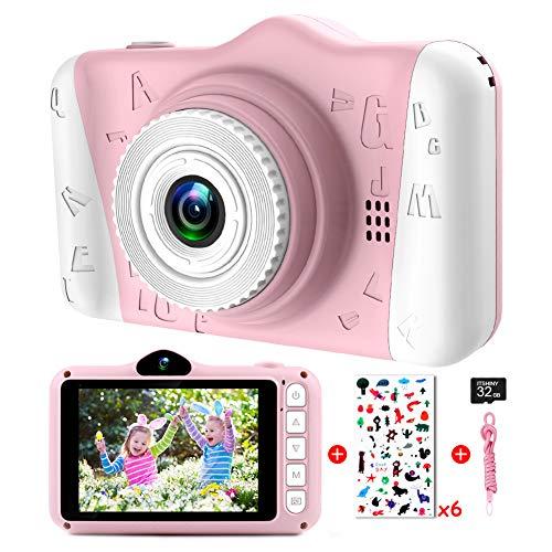 Kinderkamera - Digitalkamera Kinder mit 3,5-Zoll-Großbildschirm 1080P HD 12MP Eingebaute 32GB SD-Karte USB...
