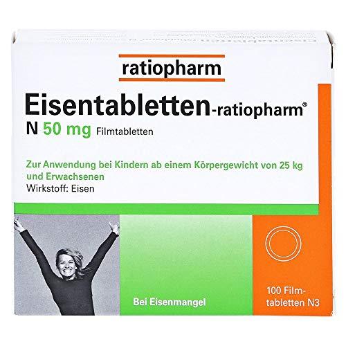 Eisentabletten-ratiopharm N 50 mg Filmtabletten, 100 St