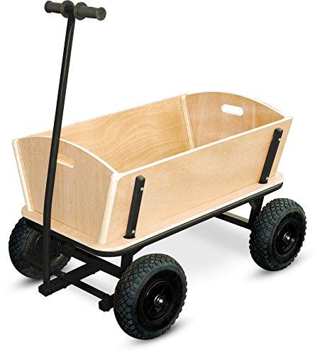 small foot 9930 Bollerwagen 'XXL' aus Holz und Metall, auch für größere Einkäufe geeignet, mit...