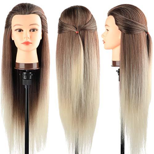 Trainingsköpfe 100% von dem Hochtemperaturfaser Haar Hairdressing Cosmetology Mannequin Frisierkopf...