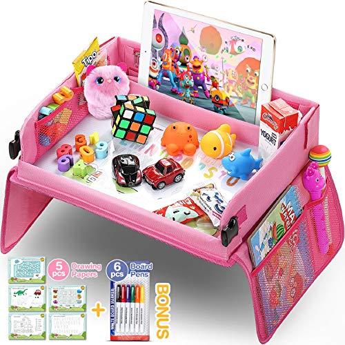 lenbest Kinder Reisetisch Kindersitz Spiel, Lernspielzeug für den Innenbereich mit 1 Transparenter...