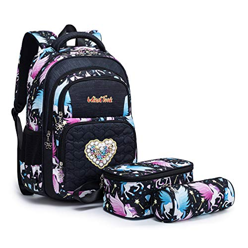 Wind Took Kinderrucksack Schulrucksack Schultasche Teenager Rucksack Backpack Mädchen Jungen Kinder, L,...