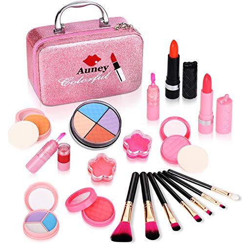ARANEE Kinderschminke Set Schminkkoffer Gefüllt Mädchen Spielzeug Mit Spiegel 21 PCS (ROSA)