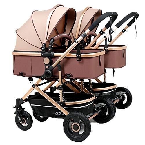 Defect Der abnehmbare, Faltbare Kinderwagen für Zwillingskinderwagen kann auf dem zweiten Kind sitzen, das...