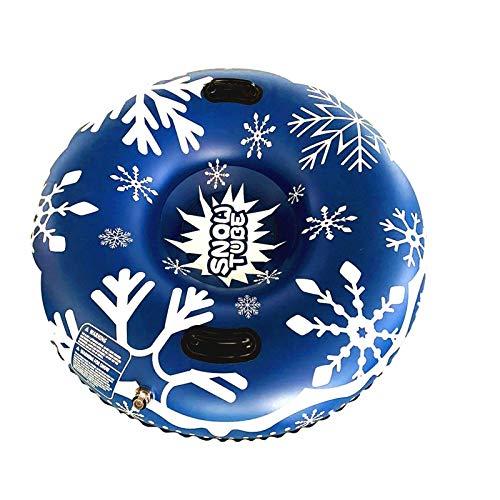 XmklovEyi Aufblasbarer Schneeschlauch Verschleißfester Schneeschlitten-Schneeschlauch mit Griffen für Kinder...
