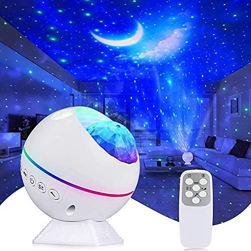 LED Sternenhimmel Projektor Kirapure Sternenlicht Projektor Light Baby Nachtlicht Projektor 360°Drehen mit...