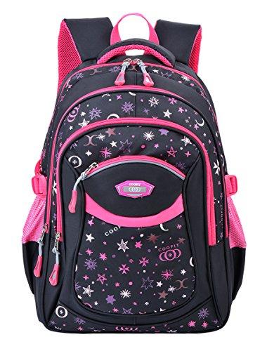 Schulrucksack,Coofit Schulrucksack Mädchen Teenager Kinderrucksack Daypack Schultasche Grundschule Backpack...