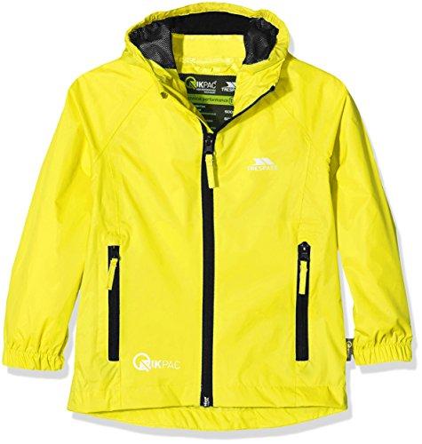 Trespass Qikpac Jacket, Yellow, 2/3, Kompakt Zusammenrollbare Wasserdichte Jacke für Kinder / Unisex /...