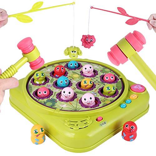 Hammerspiel Angelspiel, Toymus Interactives Hammerspiel Spielzeug, Angelspiel kinderspielzeug lernspielzeug,...