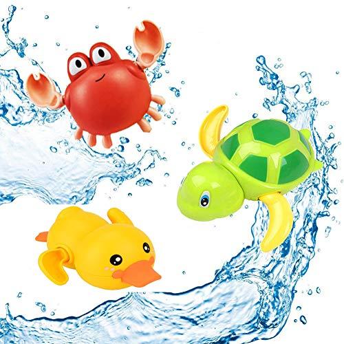SeWooo 3 Pack Baby Badespielzeug,Wasserspielzeug Kinder Bandewanne,Baby Bade Bad Schwimmen Badewanne Pool...