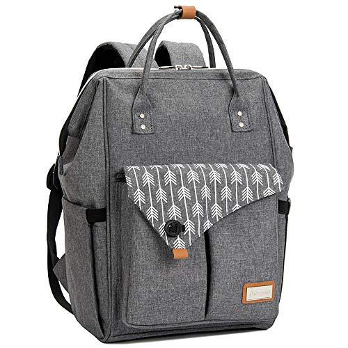 Baby Wickelrucksack Wickeltasche mit Wickelunterlage Multifunktional Große Kapazität Babytasche Reisetasche...