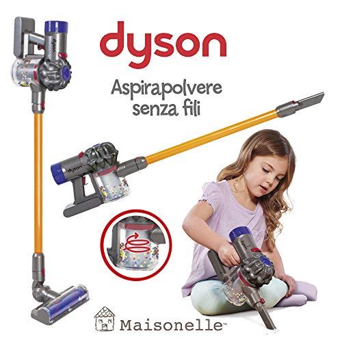 ODS - V8 Dyson Staubsauger für Kinder, Farbe Grau, Orange und Violett, 20800
