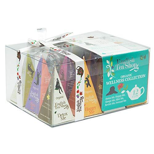 English Tea Shop - Teegeschenk mit Schleife 'Wellness Tee Kollektion', BIO, 12 Pyramiden-Beutel (DE-Version)