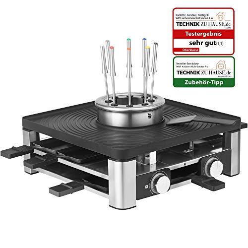 WMF Lumero 3in1 Gourmet Station für 8 Personen, Raclette Grill Fondue, elektrisch, Temperaturregulierung,...