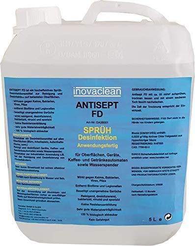Desinfektionsmittel inovaclean 5 Liter Kanister VIRUZID, gegen Viren, Bakterien, Keime und Pilze (SINNVOLL...