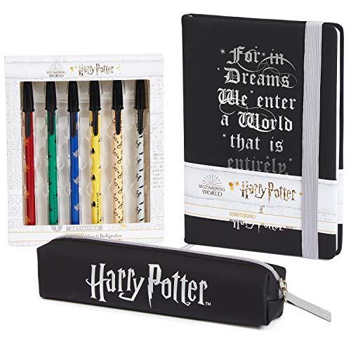 Harry Potter Notizbuch, Magischer Tagebuch A5 für Kinder und Jugendliche, Schreibwaren Set mit Stiftebox und...