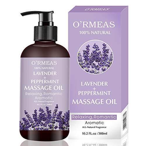Massageöl für Erwärmen, Entspannen, Massieren Gelenkschmerzen Linderung, Lavendel Peppermint Massage Oil...