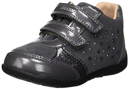 Geox Mädchen B Kaytan A Sneaker, Grau (Dk Grey C9002), 22 EU