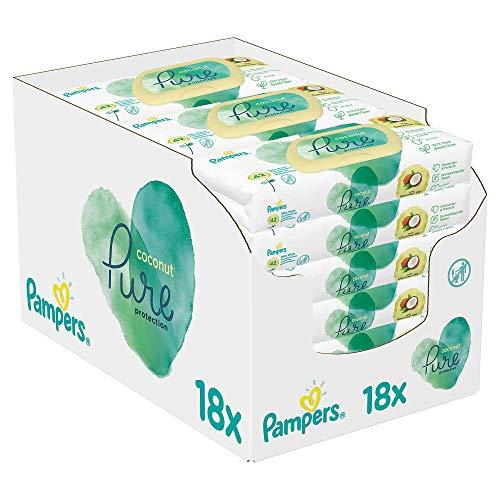 Pampers Coconut Pure Feuchttücher 18Packungen= 756Feuchttücher