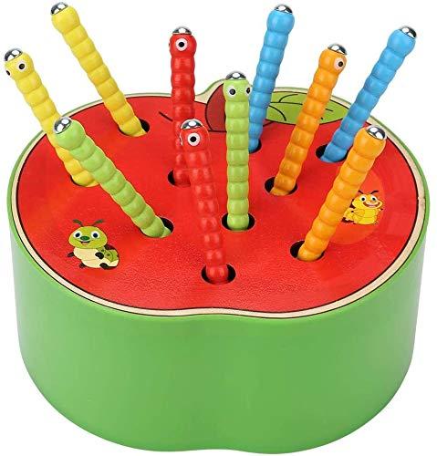 Afufu Kinderspielzeug ab 1 2 3 4 5 Jahren, Holz Montessori Spielzeug für Babys, Holzspielzeug Fangen Insekten...