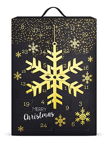 SIX Schmuck-Adventskalender mit Schneeflocken-Design: 24 Überraschungen in Form schöner Schmuckstücke wie...
