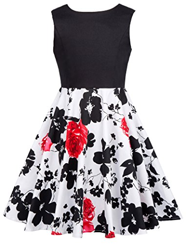 GRACE KARIN Prinzessin Blumen Maedchen Kleid Festliche Kinderkleider 11-12 Jahre CL10600-3