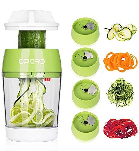 Opard Spiralschneider Hand 5 in 1 Gemüsespaghetti Gemüse Spiralschneider, Gemüseschneider, Gemüsehobel...