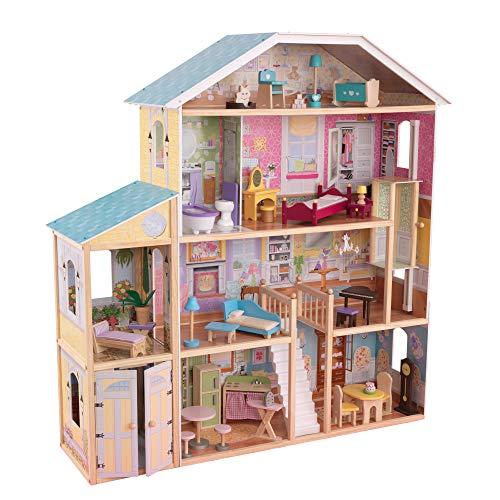 KidKraft Majestic Mansion: Holzpuppenhaus mit viel Zubehör