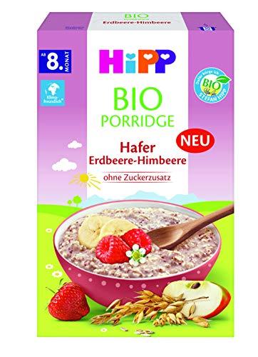 Hipp Bio-Müesli Porridge Hafer Erdbeere-Himbeere, 6er Pack (6 x 250 g)