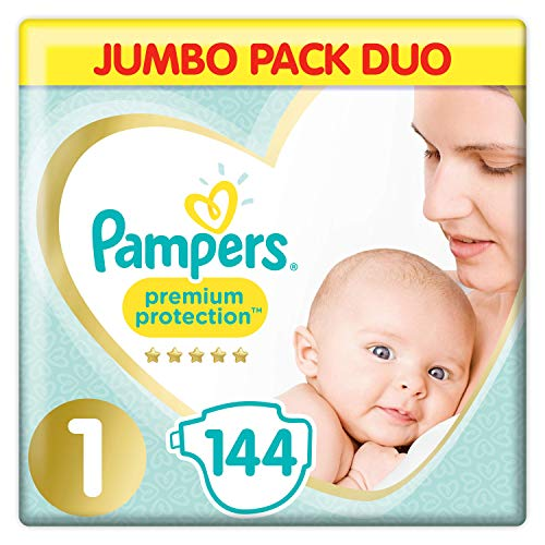 Pampers Premium Protection Softest Comfort Windeln, Jumbo-Pack, zugelassen von British Skin Foundation,...