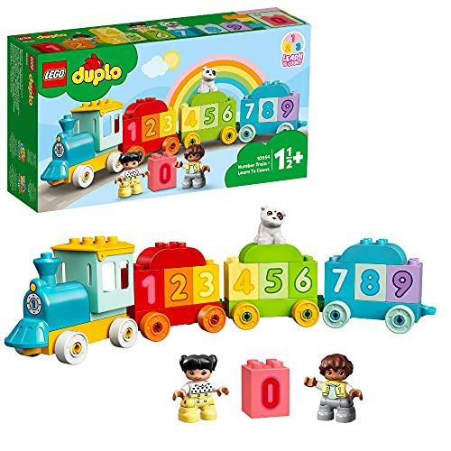 LEGO 10954 DUPLO Zahlenzug - Zählen lernen, Zug Spielzeug, Lernspielzeug für Kinder ab 1, 5 Jahren, Baby...