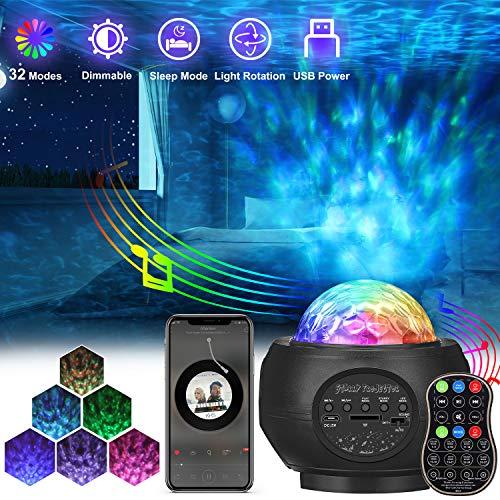 Sternenhimmel Projektor, AMBOTHER LED Projektor Sternenlicht, USB Fernbedienung Nachtlicht, Rotierende...