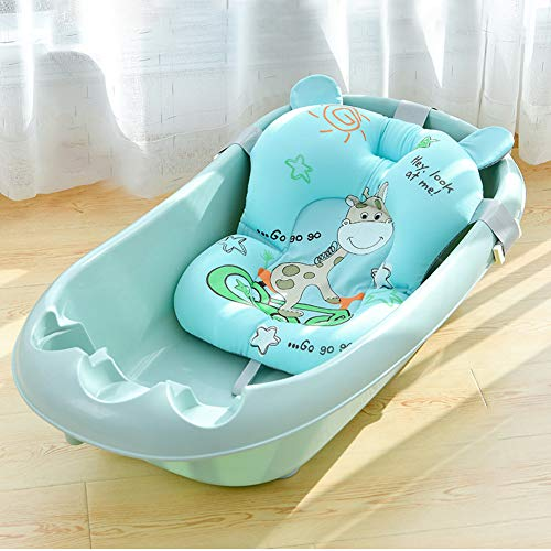 Babywannenmatte Neugeborene Kleinkind Babywannensitz mit Sicherheitsgurt Babywannenkissen Baby Rutschfest...