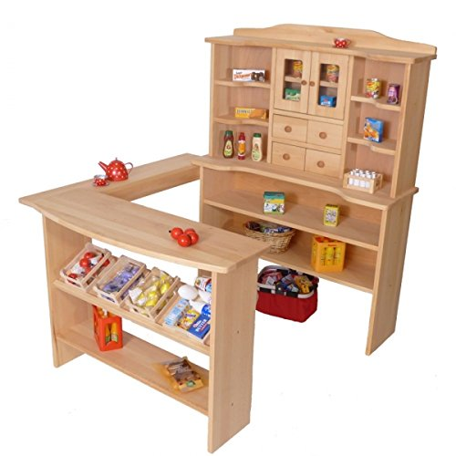 Kinder-Kaufmannsladen aus Holz